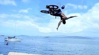 Уникален скок с BMX във вода!!!