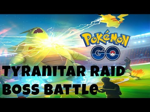 Pokemon GO | Epic Tyranitar Raid Boss Battle | Can We Do It Before Time Runs Out?