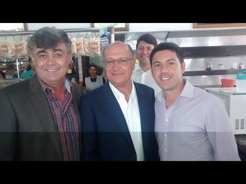 Prefeito Fernandão , Vereador André Despézio e Governador Geraldo Alckmin