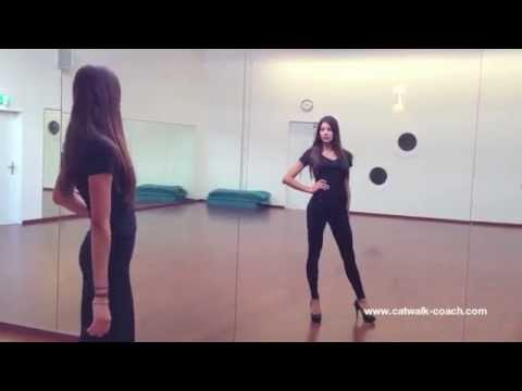 How to walk like a model - Before and After - Elite Model Look Finalist Nadine Keller (видео)