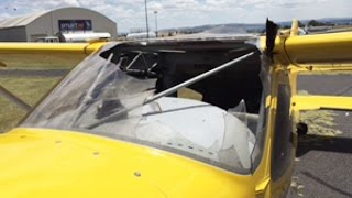 RV Aircraft Video - MAYDAY, MAYDAY, MAYDAY - I've hit a bird (Bird Strike) - RV7 Flight VLOG