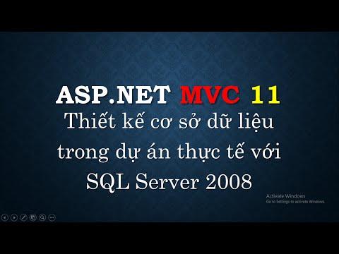 Lập trình ASP.NET MVC - Bài 11: Thiết kế database cho dự án thực tế với SQL Server