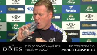 The Everton manager speaks to the media ahead of Sunday's Premier League clash with Chelsea at Goodison Park.