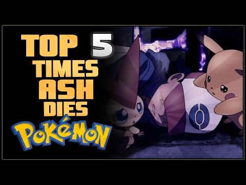 Top 5 Times Ash Dies in Pokémon (видео)