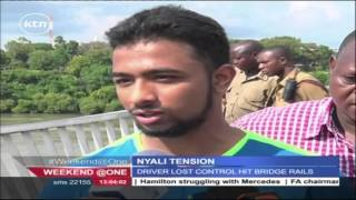 Tension is high in Nyali after a car allegedly plunged in the ocean early in the morning
