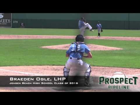 Braeden Ogle Prospect Video, LHP, Jensen Beach High School 2016