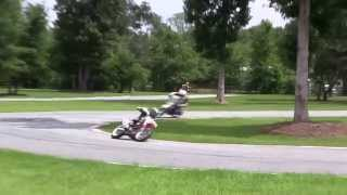 2. Yamaha TTR125 vs Two Honda CRF150Rs