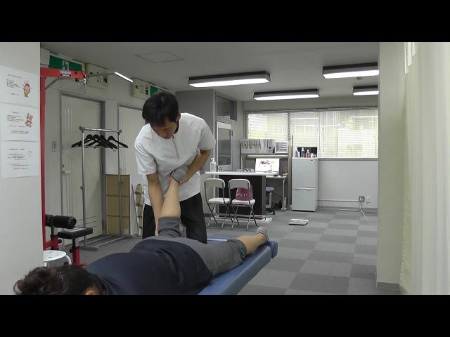 【施術動画】坐骨神経痛で下腿が痺れる 2 膝裏を調整する
