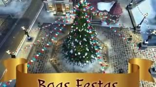 Tarjeta de Navidad para compartir. O Natal espalha sua magia