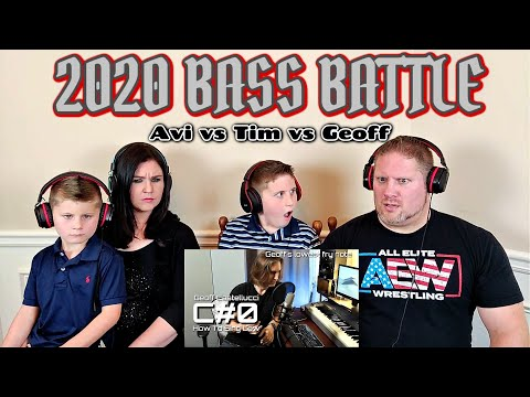 [2020/Bass Battle] Avi VS Tim VS Geoff (Low Notes Only) Eb2 - C0 REACTION