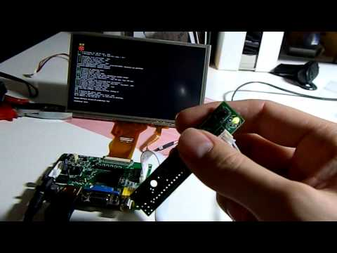 raspberry pi resistive touchscreen with 7
