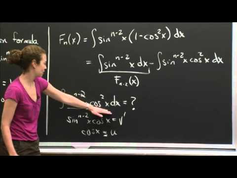 Integrating sin^n(x) Using Reduction | MIT 18.01SC Single Variable Calculus, Fall 2010