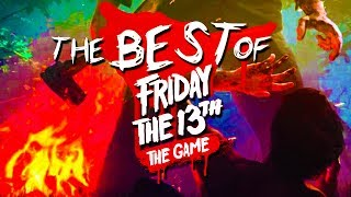 Friday the 13th Game Gameplay!**My second channel** https://www.youtube.com/user/KYRSP33DYBig shoutout to WickN for editing this video:YouTube: https://www.youtube.com/channel/UCDvREfi3QhiB9qxEYdpiiNwTwitter: https://twitter.com/WickN_ Deluxe's Channel: http://www.youtube.com/user/TheDeluxe4Jahova's Channel: http://www.youtube.com/user/jahovaswitnissNobody Epic's Channel: http://www.youtube.com/user/NobodyEpicG18's Channel: http://www.youtube.com/user/G18SprayandPraySidearms' Channel: http://www.youtube.com/user/SideArms4ReasonShadow's Channel: http://www.youtube.com/user/ShadowBeatzIncDeluxe 20's Channel: http://www.youtube.com/user/Deluxe2OLike the video if you enjoyed!  Thanks!My Twitter - https://twitter.com/KYR_SP33DYKYR SP33DYspeedyw03
