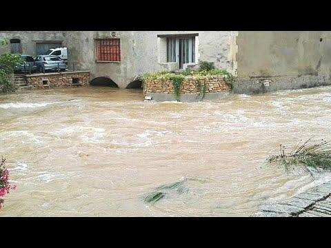 Frankreich: Überschwemmungen im Département de l'Ardèche (Südfrankreich)