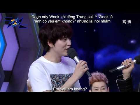 """[VIETSUB] 130406 Happy Camp cut - RyeoWook, DongHae giả làm """"bạn gái"""" của Kyuhyun"""