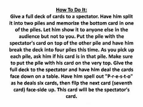 Cool Magic Card Tricks Revealed &#8211; Easy Magic Secrets