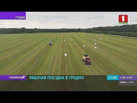Лукашенко в Гродно: встреча с активом области и посещение 'Гродно Азот'. Панорама