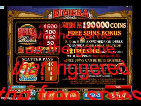 How to play Riviera Riches Slot game!!!