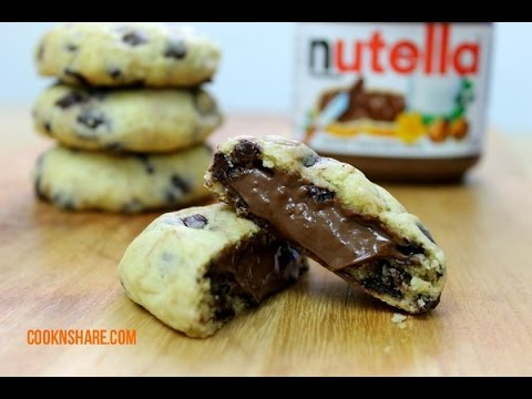 nutella - Nutella chocolate chip cooks are simple to make and incredibly delicious. This recipe uses a very easy cookie recipe, semisweet chocolate chips, and a nutell...