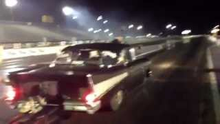 Hot Rod Drag Week Fastest Unlimited Street Car At Houston Jeff Lutz's 57 Chevy