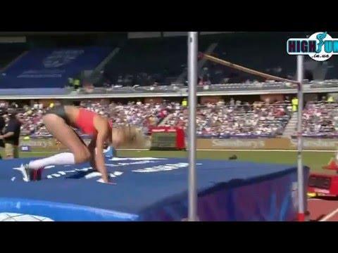 1.94 Justyna Kasprzycka Diamond League Birmingham ( women high jump )
