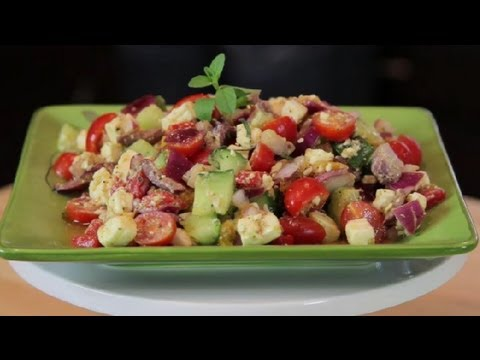 Mediterranean Diet: How to Make a Authentic Greek Mediterranean Salad Recipe