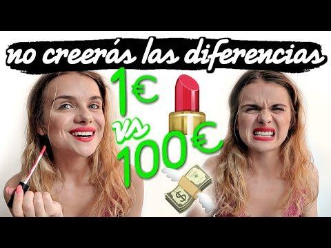 MAQUILLAJE DE 1€ VS MAQUILLAJE DE 100€  Marina Yers