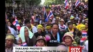 Anti-gov't Demonstrators Demand Thai PM Yingluck Shinawatra Step Down