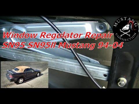 1994 to 2004  Mustang Window Regulator Repair Project 1995 Mustang SN95 Part 5