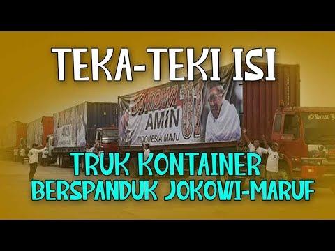 Teka-teki Isi Truk Kontainer Berspanduk Jokowi