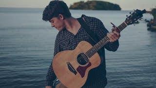 Bon Iver - Holocene (Acoustic cover on the lake)