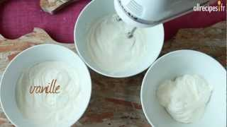 Crème chantilly aux 3 parfums