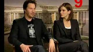 Keanu and Sandra Interview - Count the looks!