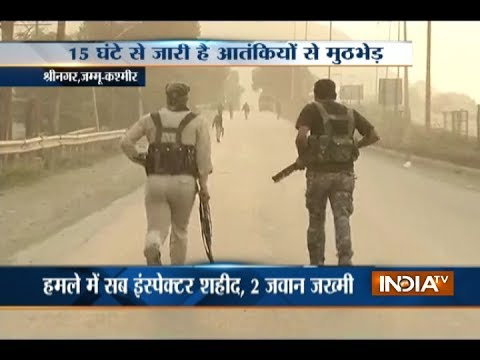 15 hrs on, encounter between security forces and militants underway in Srinagar's Pantha Chowk