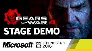 Gears of War 4 Stage Demo - E3 2016 Microsoft Press Conference by GameSpot