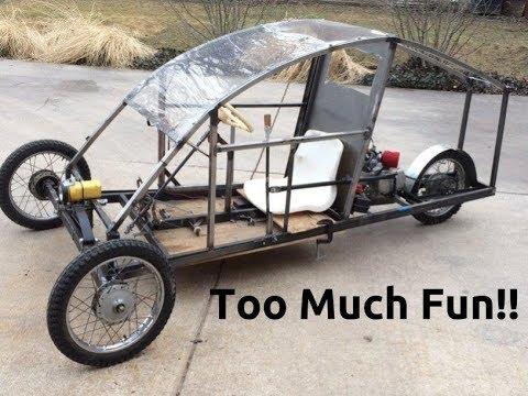 More Fun Than a Drift Trike: Reverse Motorcycle Trike!!