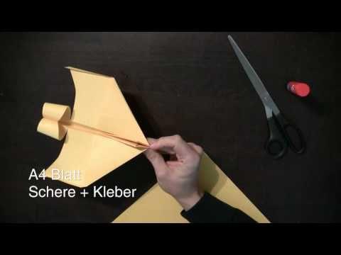 Papierflieger Bauanleitung - Anleitung um einen super Flieger zu falten