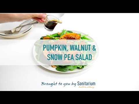 Pumpkin, walnut & snow pea salad thumbnail 2