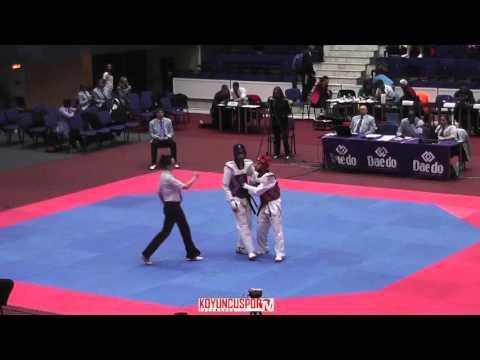 63kg Ron Atias (ISR) vs (MNE) BECOVIC Zinedin (-21 European TKD Championships 2015) (видео)