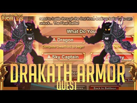 =AQW= Build Drakath's Armor Quest [FULL Walkthrough] (Chaos Finale!)