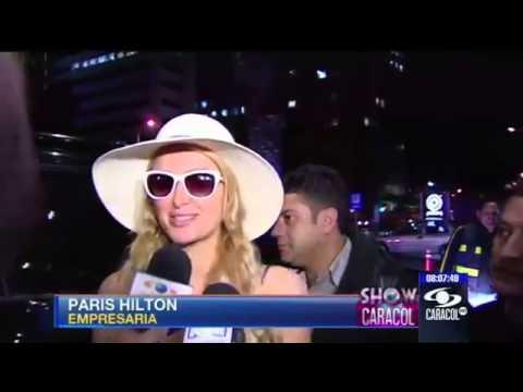 Con gafas de sol y gran sombrero tropical, llegó Paris Hilton a Bogotá  24 de abril de 2013