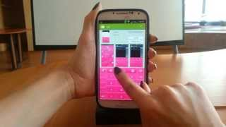 GO Keyboard Pink Glow theme YouTube video