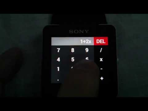 Video of Calc for SmartWatch 2