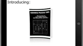 SUDOKU PUZZLE TIPS YouTube video