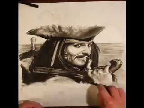 a drawing of jack sparrow johnny depp. Jack Sparrow - Johnny Depp