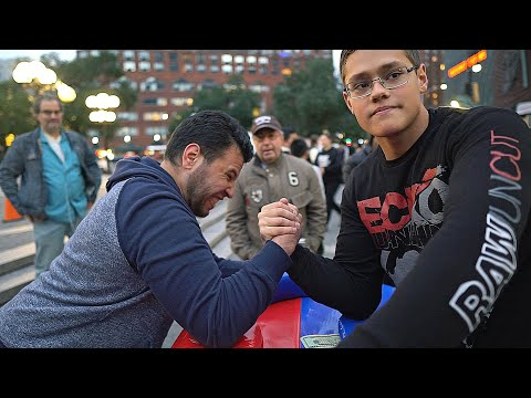 CAN YOU BEAT THIS SCHOOLBOY AT ARM WRESTLING ?