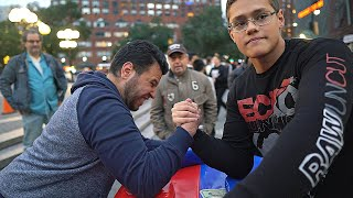 Video CAN YOU BEAT THIS SCHOOLBOY AT ARM WRESTLING ? MP3, 3GP, MP4, WEBM, AVI, FLV Januari 2019