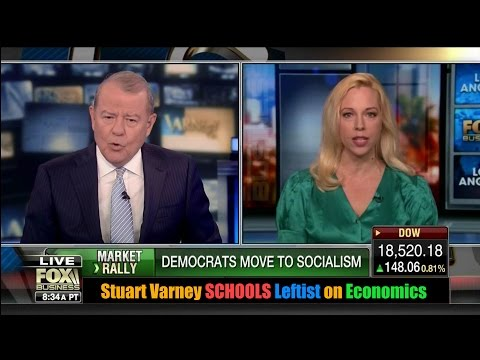 Stuart Varney SCHOOLS Leftist Democrat Socialist on Economics