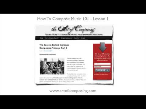 compose - http://www.howtocomposemusic101.com http://www.artofcomposing.com Learn how to compose music, from start to finish. Be sure to sign up at http://www.howtocom...