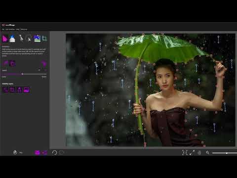 Animate rain with PhotoMirage